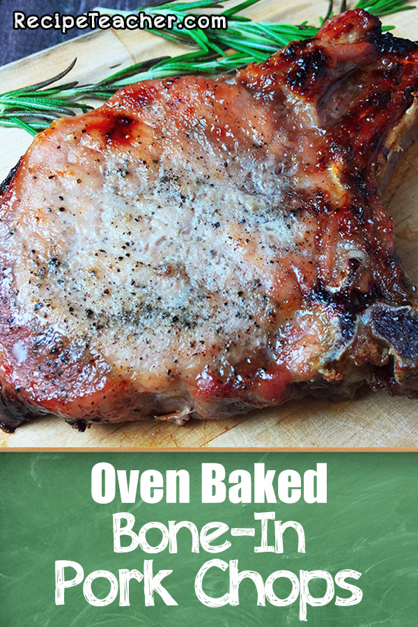 Recipe for oven baked bone in pork chops