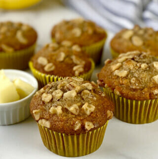 Easy recipe for banana nut muffins