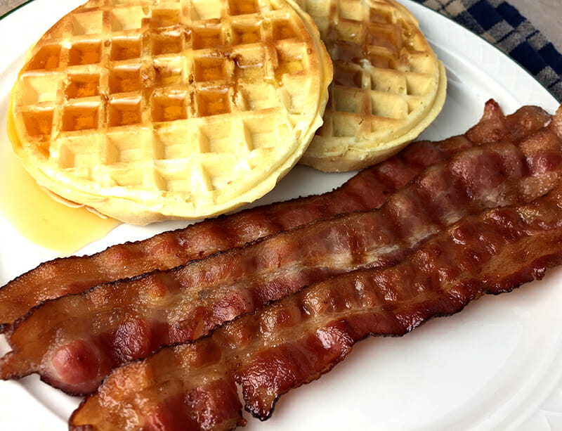 George Foreman Grill bacon