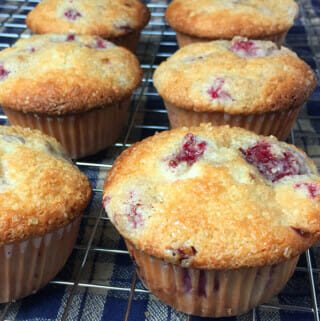 Recipe for raspberry muffins