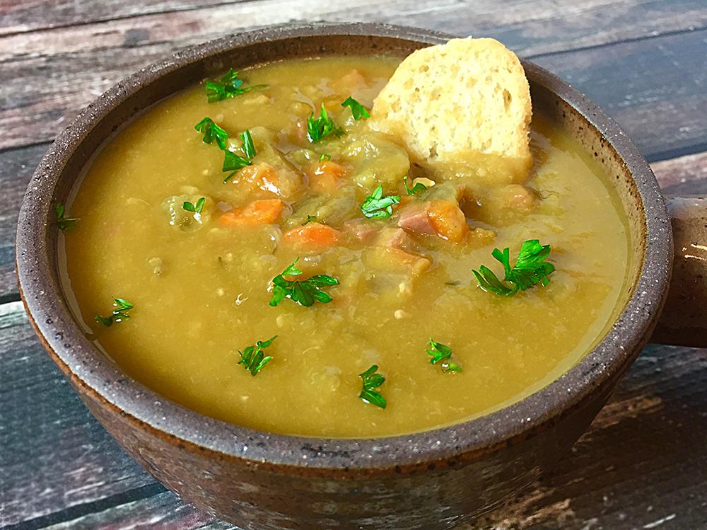 slow cooker split pea soup recipe