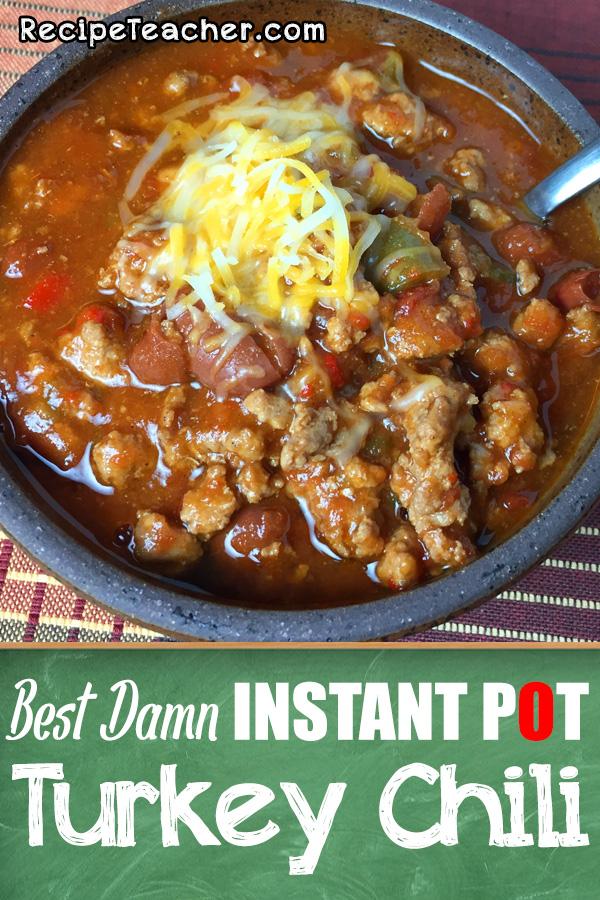 Instant Pot turkey chili recipe
