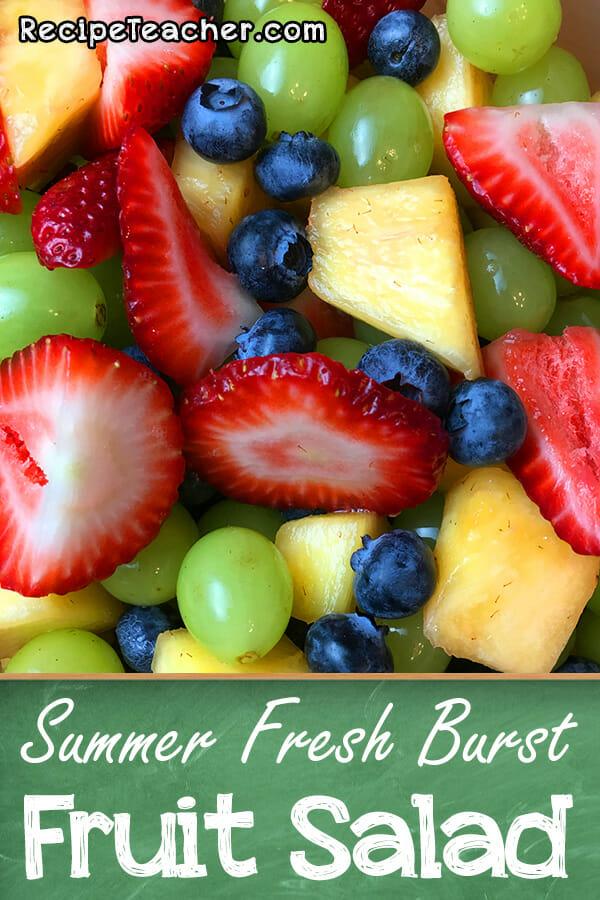 recipe for summer fresh burst fruit salad