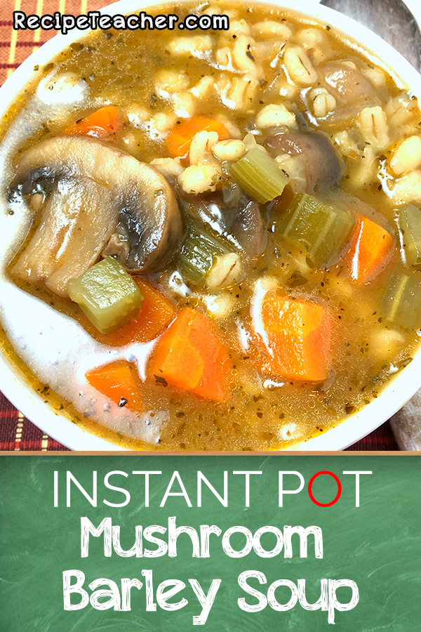 Recipe for Instant Pot mushroom soup