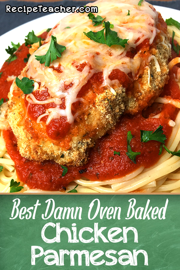Recipe for oven baked chicken parmesan