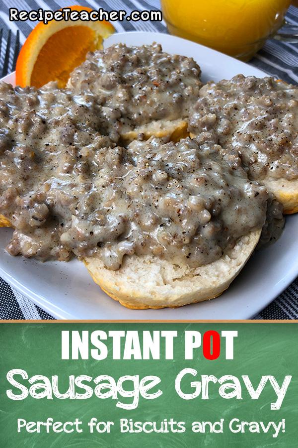 Instant Pot sausage gravy recipe