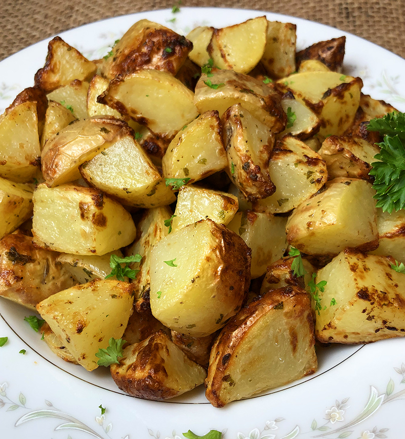 Air fryer roast potatoes recipe