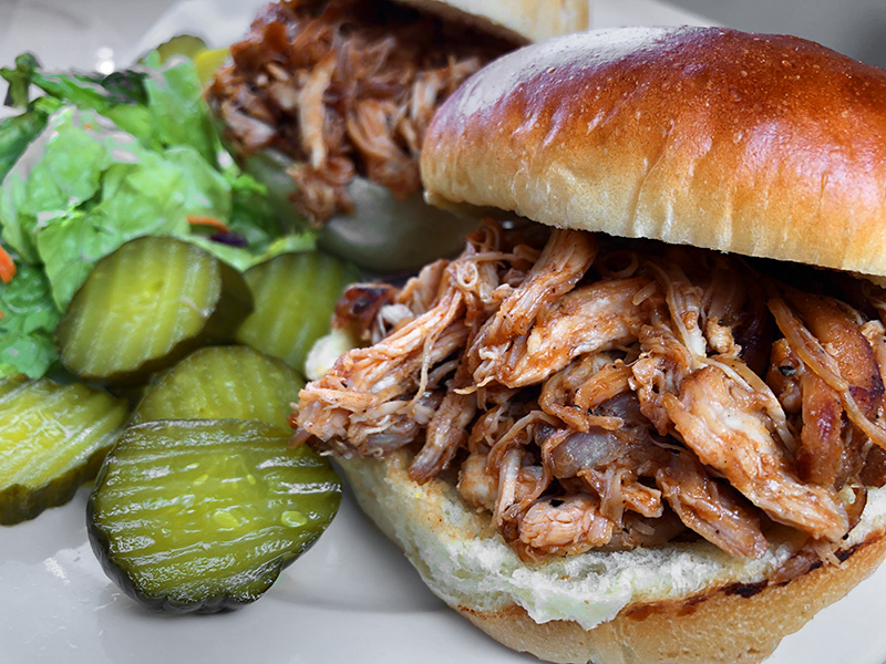Instant Pot pressure cooker bbq pulled chicken recipe