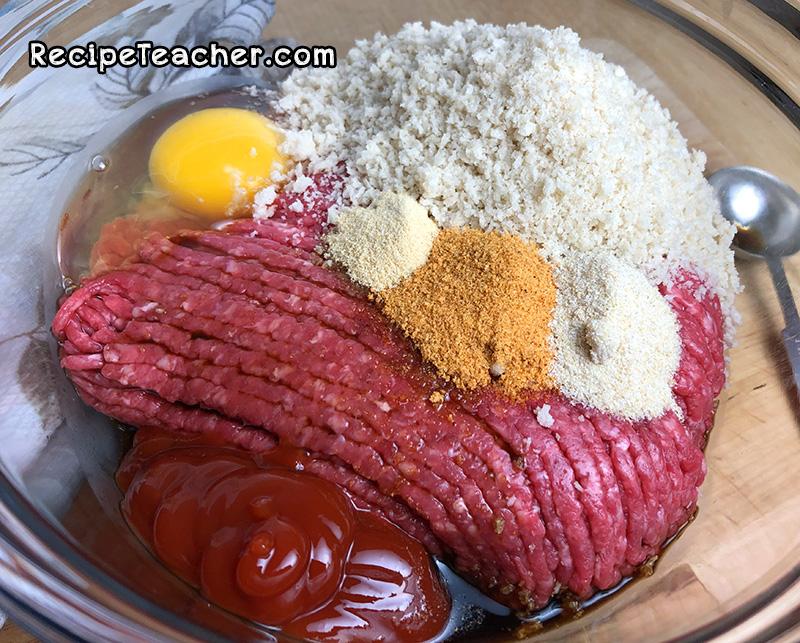 Ingredients for best damn instant pot meatloaf recipe