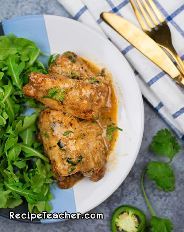instant pot cilantro chicken thighs recipe