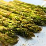 Instant Vortex Plus air fryer asparagus.