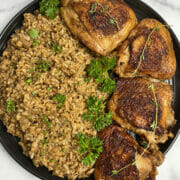 Recipe for Instant Pot chicken and brown rice
