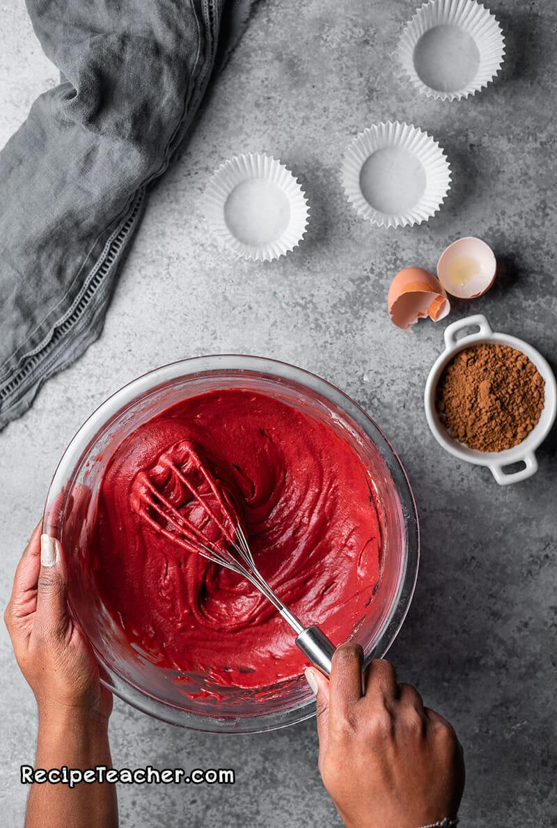 recipe for red velvet cupcakes