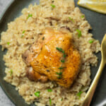 recipe for instant pot chicken thighs and brown rice.
