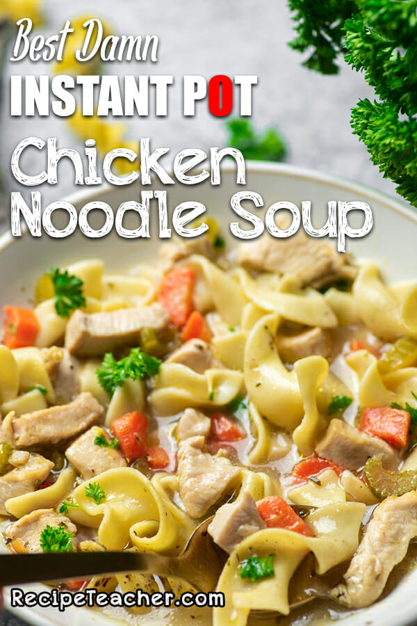 A recipe for homemade Instant Pot Chicken Noodle Soup
