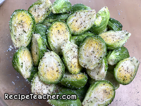 Recipe for Parmesan ranch air fryer Brussels sprouts