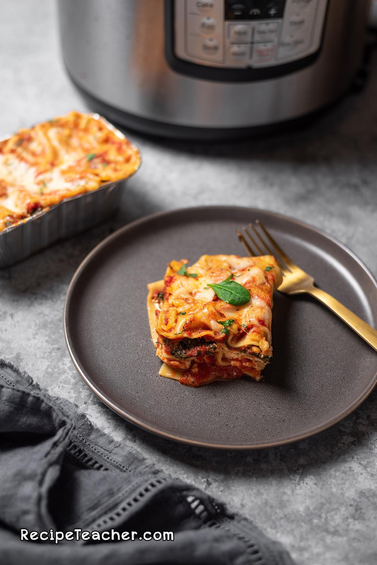 Recipe for homemade Instant Pot Lasagna