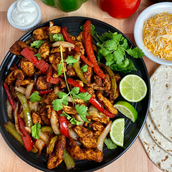 Recipe for air fryer chicken fajitas