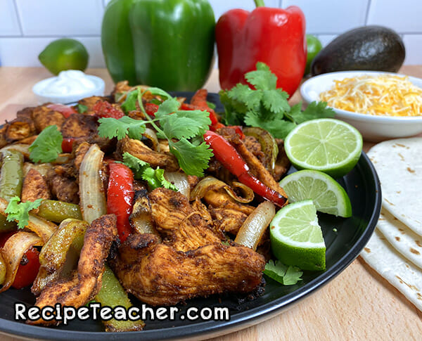 Recipe for air fryer chicken fajitas