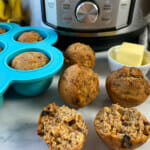Recipe for Instant Pot banana bread bites.