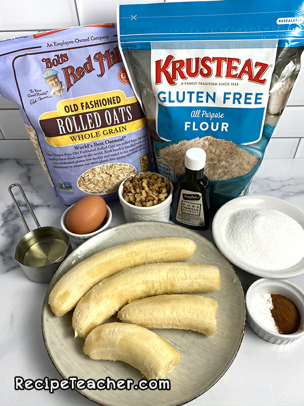 Recipe for gluten-free Instant Pot banana bread bites