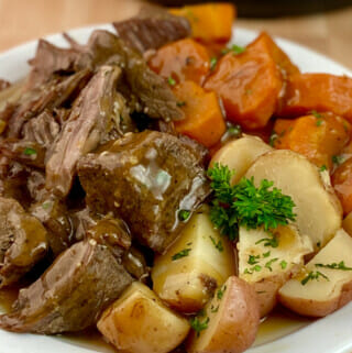 Recipe for Instant Pot Pot Roast from recipeteacher.com