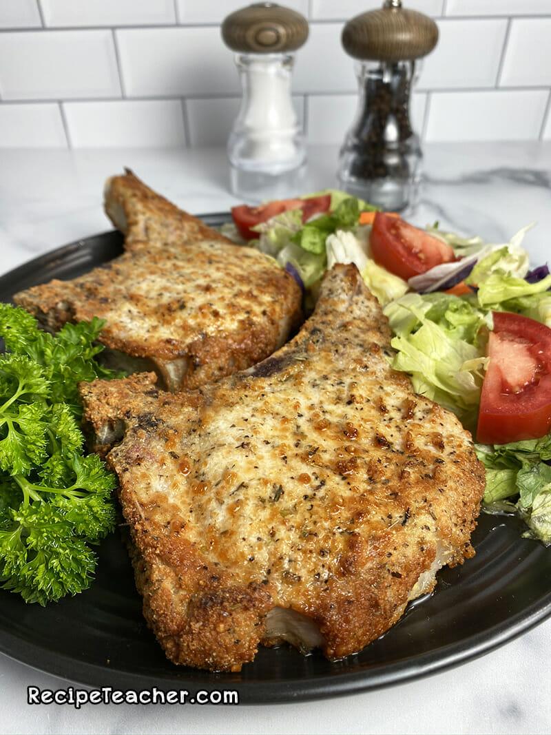 Recipe for ir fryer parmesan garlic pork chops