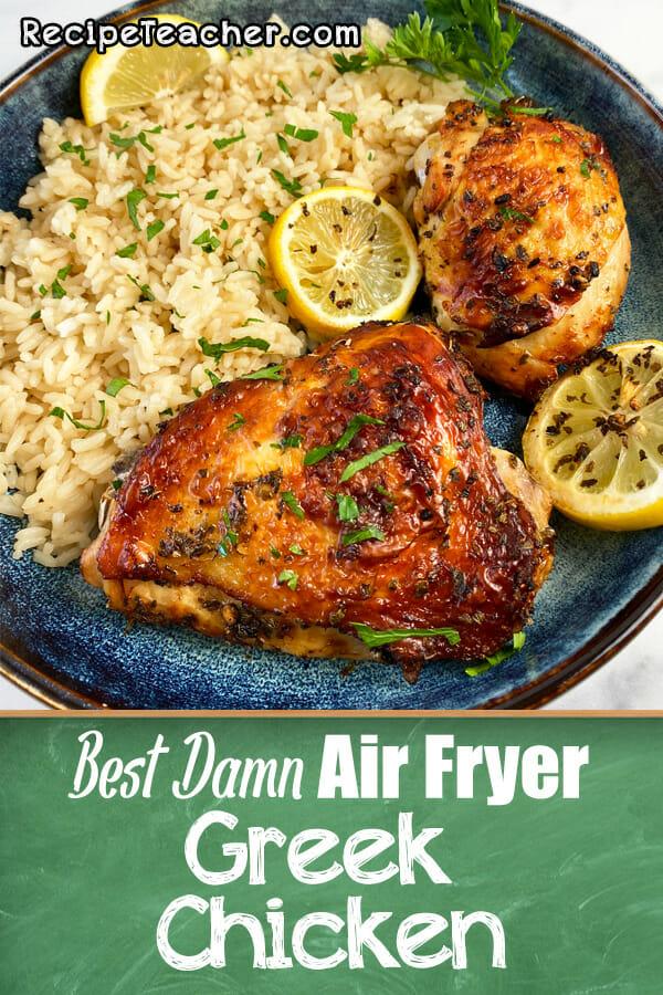 Recipe for air fryer Greek chicken