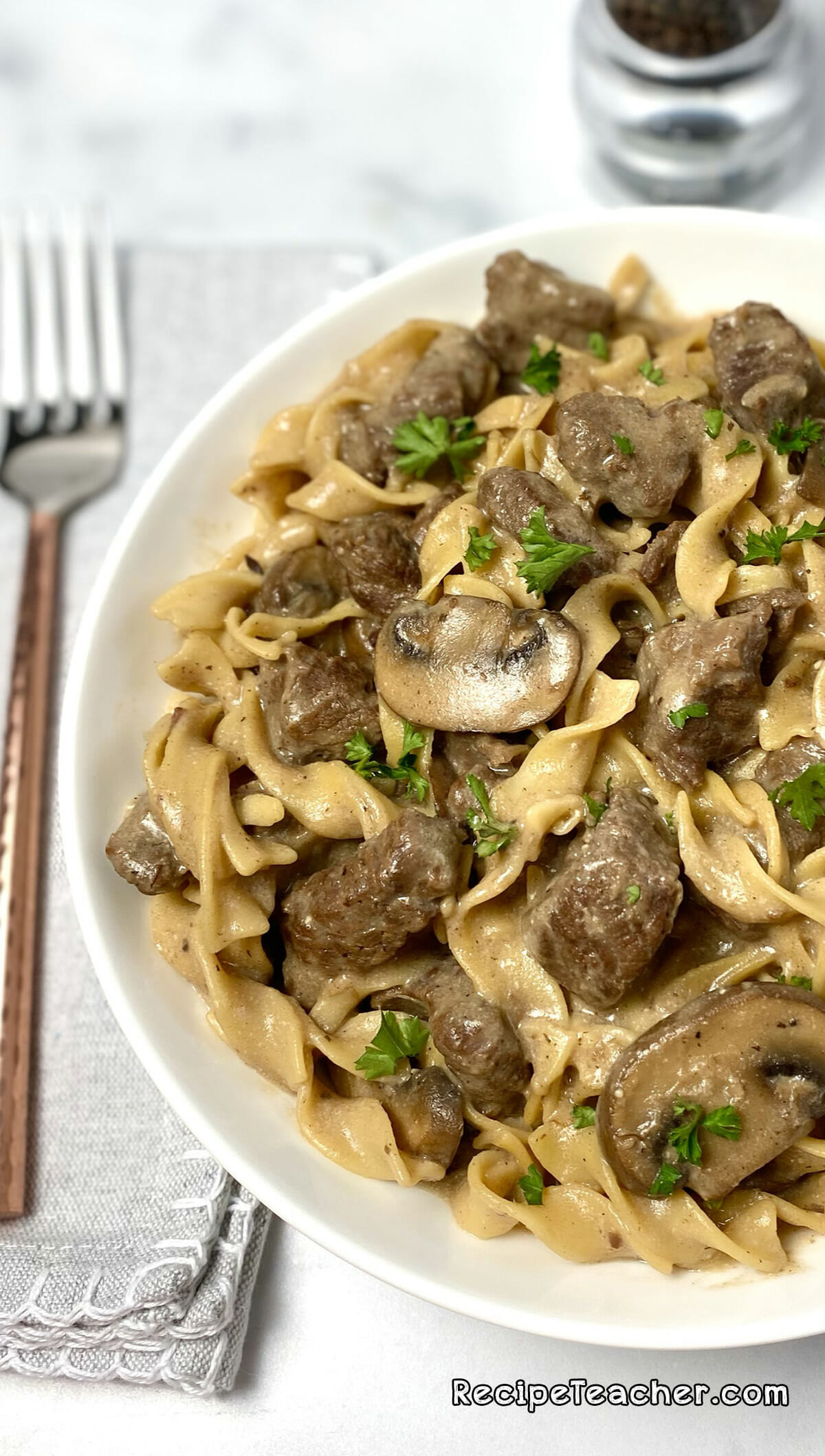 Recipe for Instant Pot Beef Stroganoff