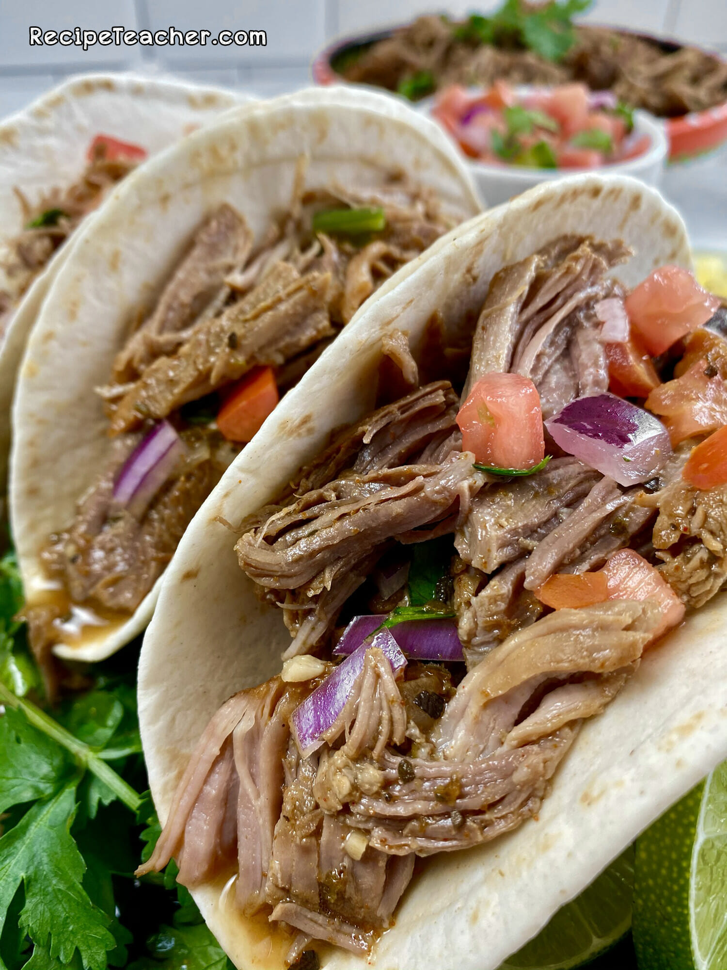 Recipe for Instant Pot Carnitas Mexican Pulled Pork