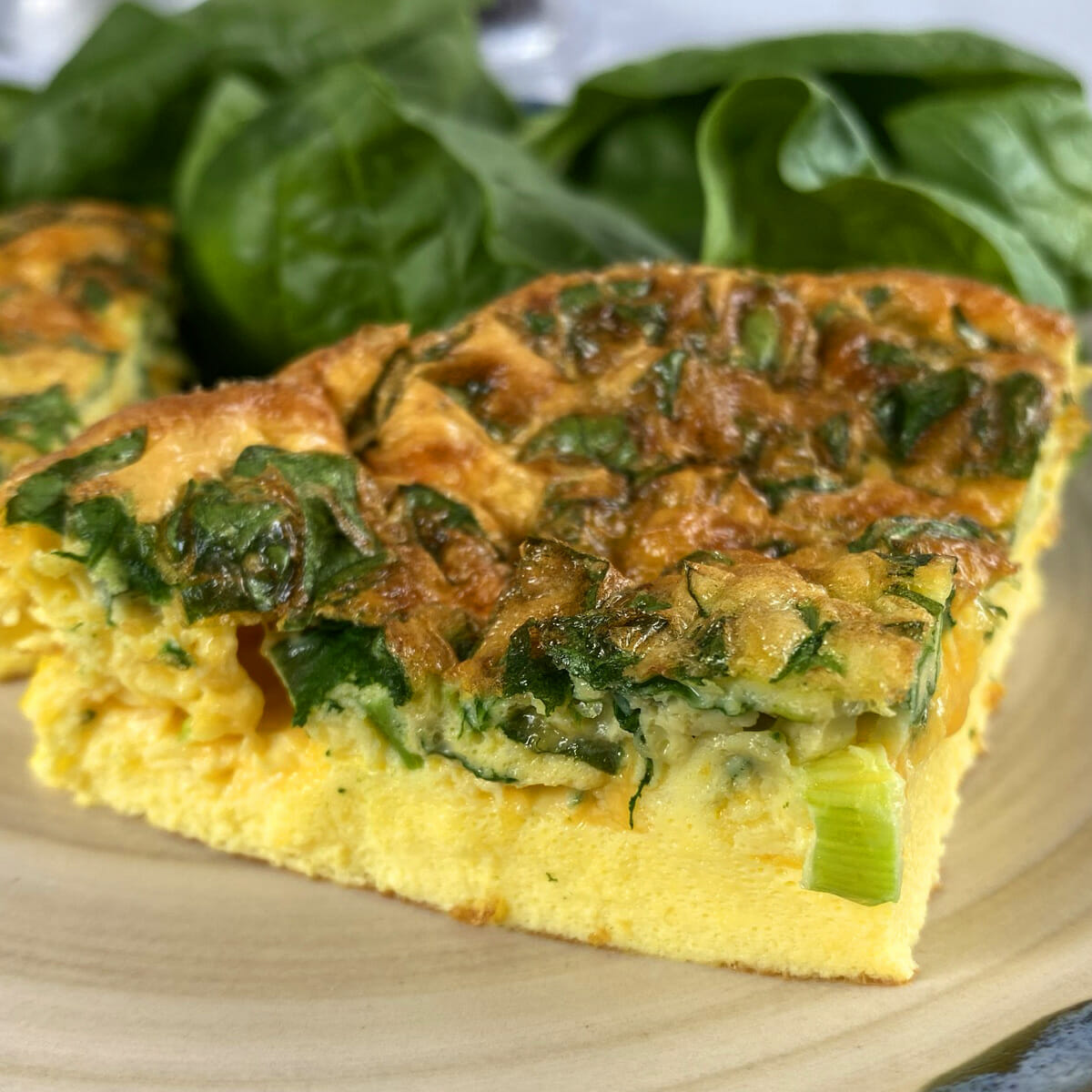 Recipe for air fryer breakfast spinach frittata