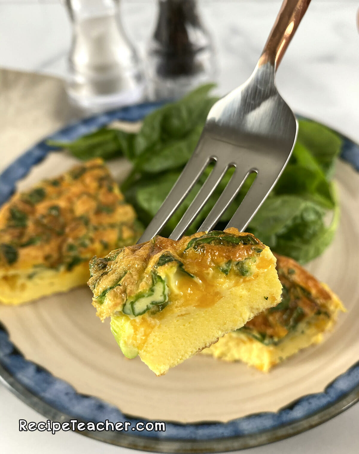 Recipe for air fryer spinach frittata