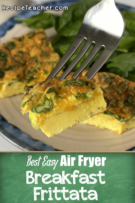Recipe for an air fryer spinach frittata