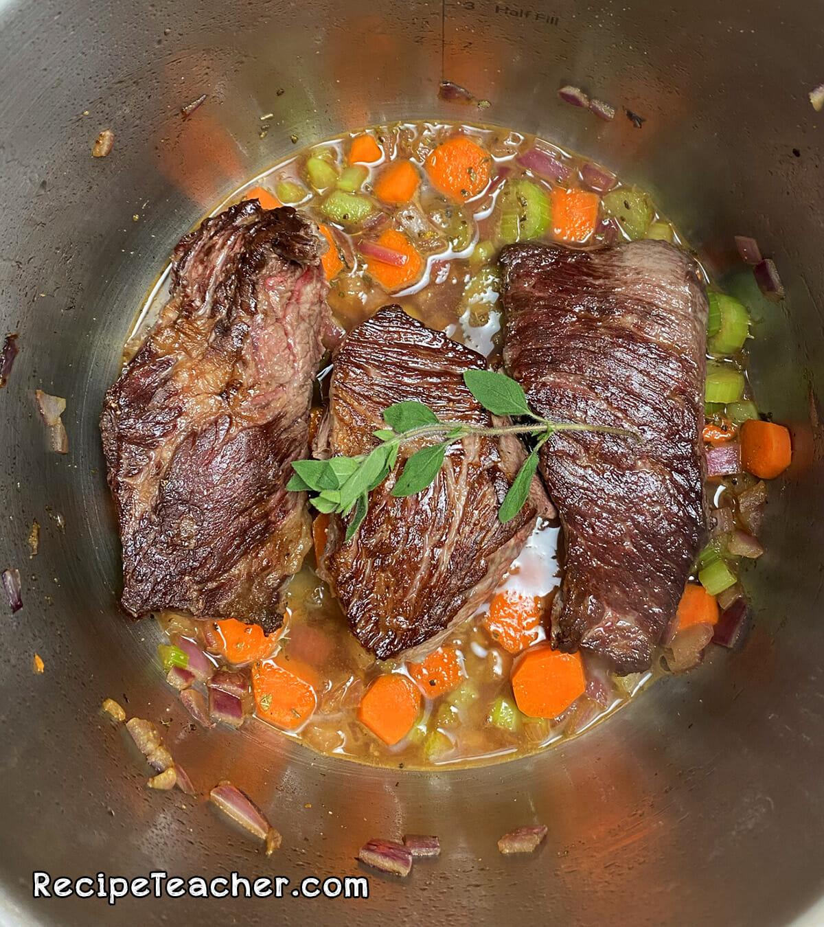 Recipe for Instant Pot beef short ribs
