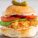Recipe fo air fryer buttermilk chicken sandwich