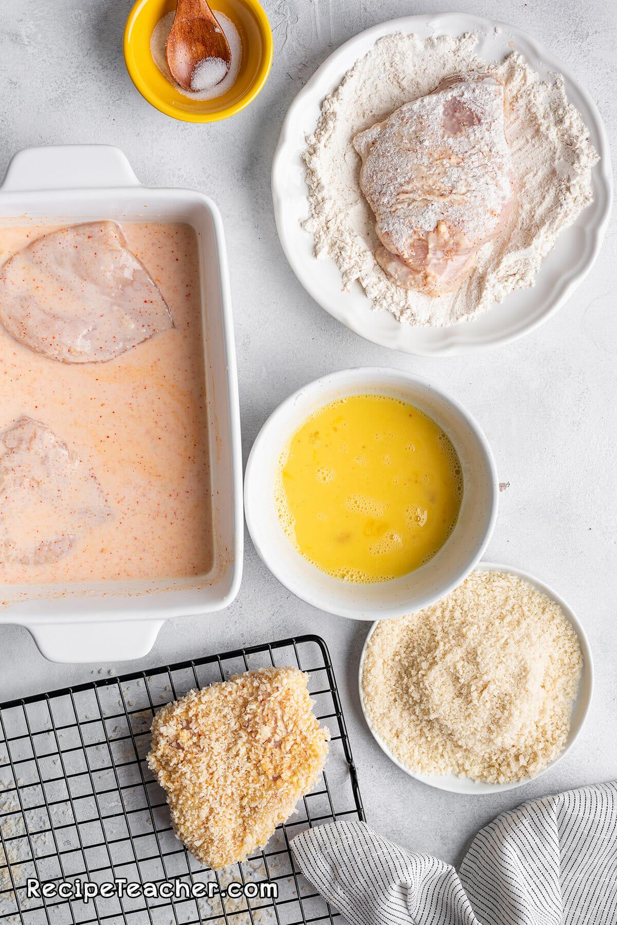 Recipe for an air fryer buttermilk chicken sandwich