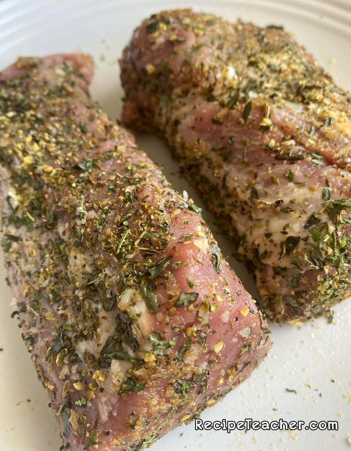 Recipe for Instant Pot garlic and herb pork tenderloin
