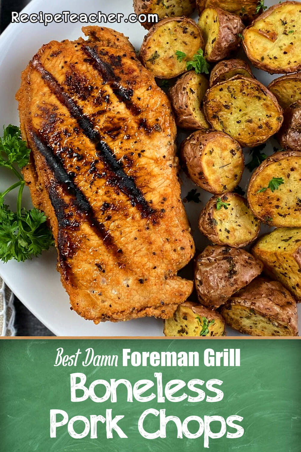 Recipe for George Foreman Grill pork chops