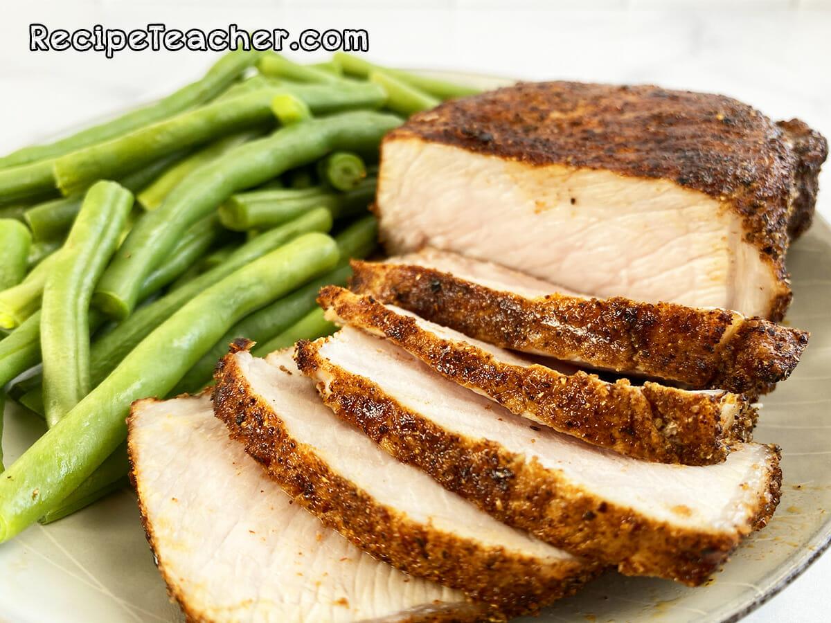 Recipe for coriander crusted pork chops