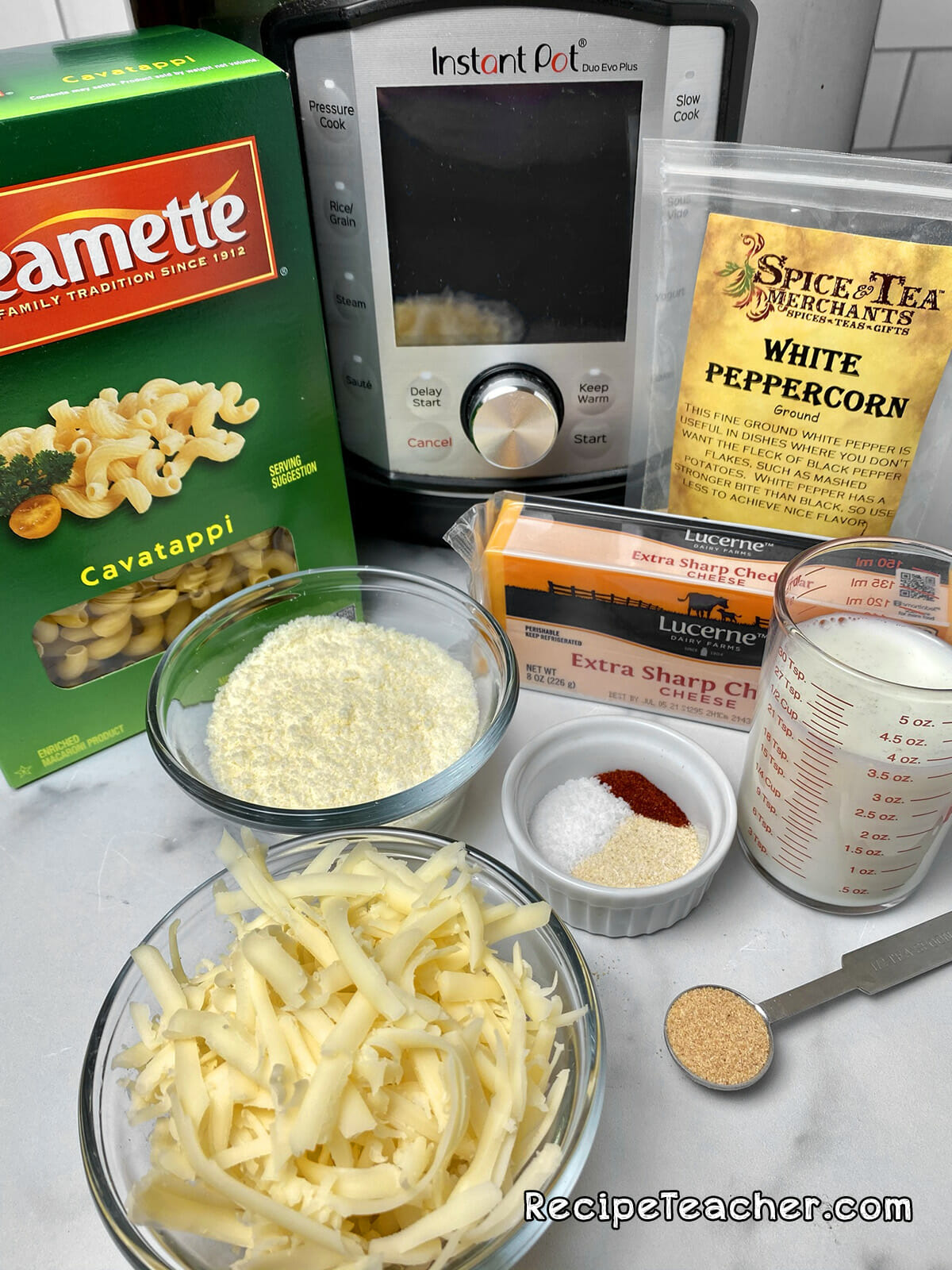 Instant Pot mac and cheese recipe.