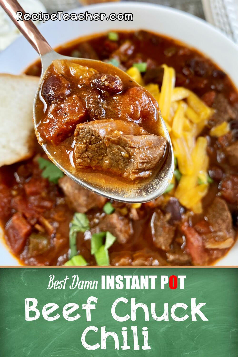 Recipe for Instant Pot beef chili