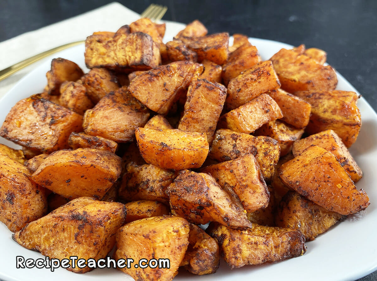 Recipe for air fryer roasted sweet potatoes