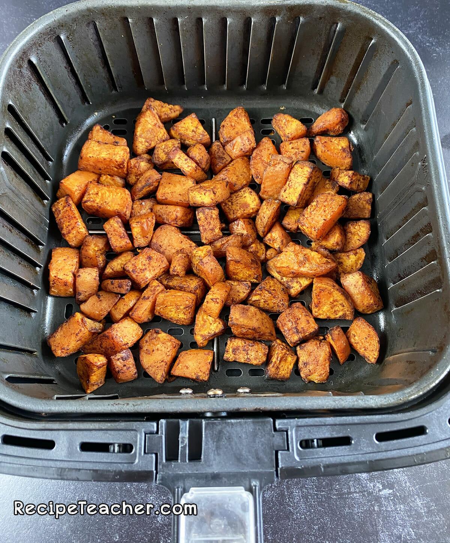 Air fryer roasted sweet potatoes.