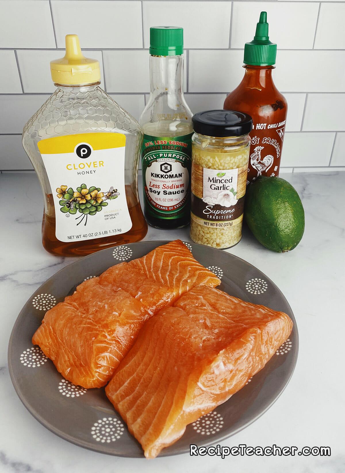 Air fryer Asian salmon filet recipe