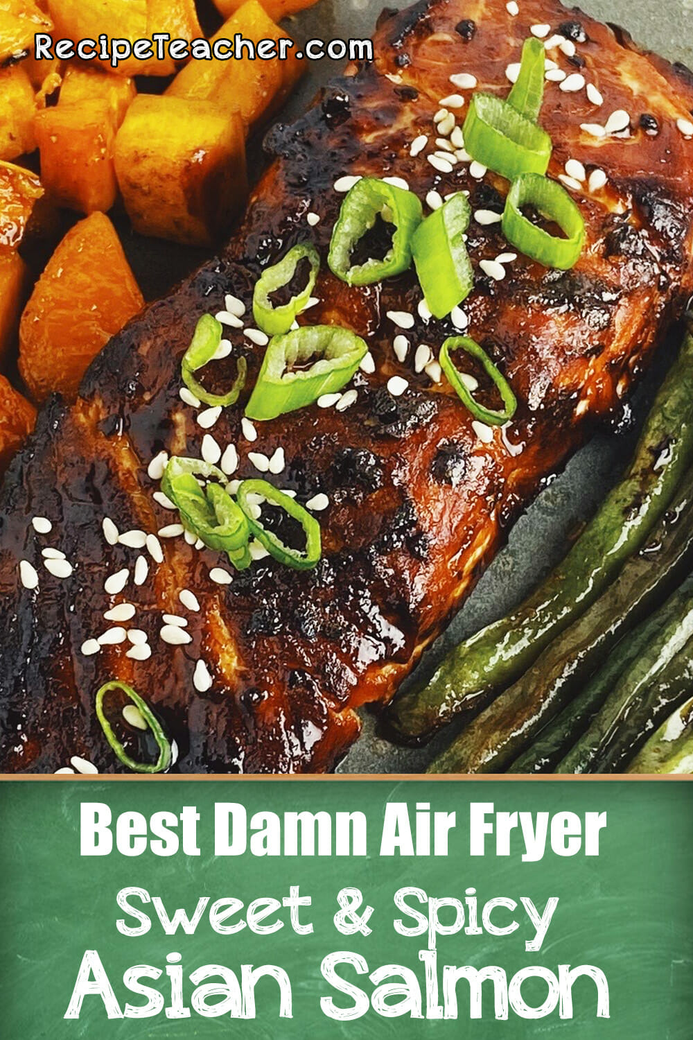Recipe for Asian air fryer salmon