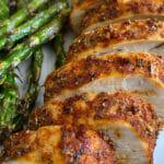 Simple recipe for air fryer boneless skinless chicken breast.