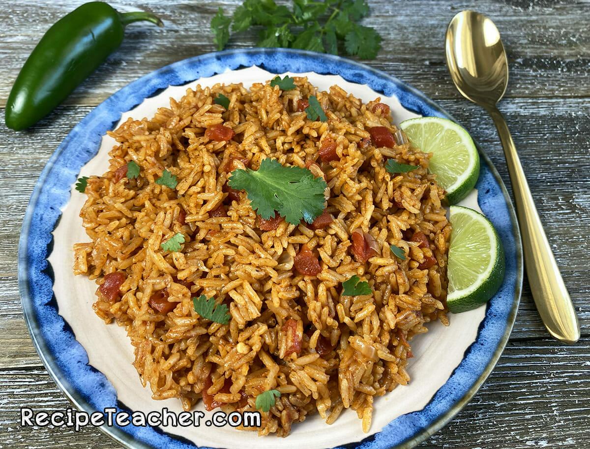 Recipe for Instant Pot Spanish rice.