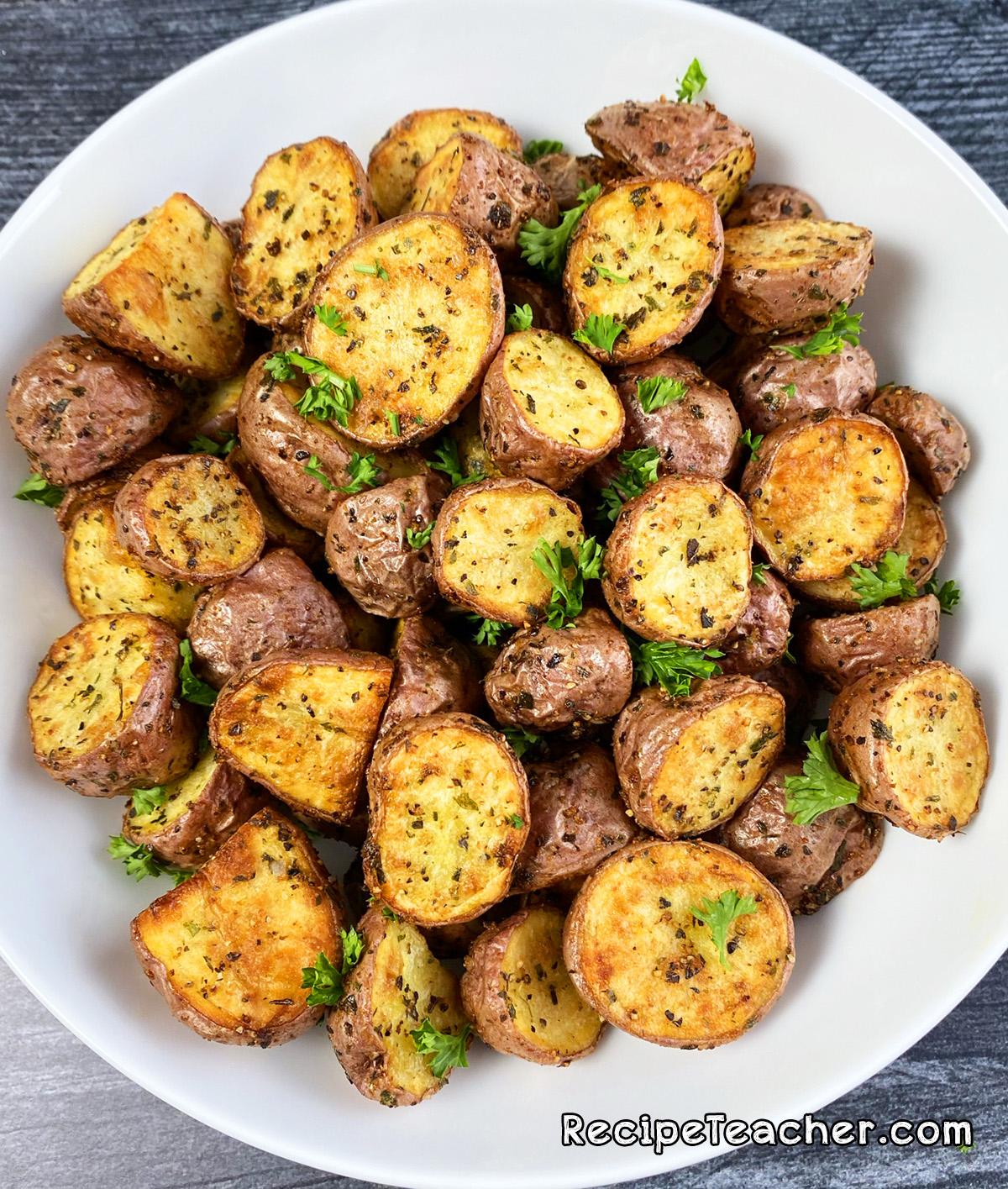 Air fryer roasted potatoes recipe