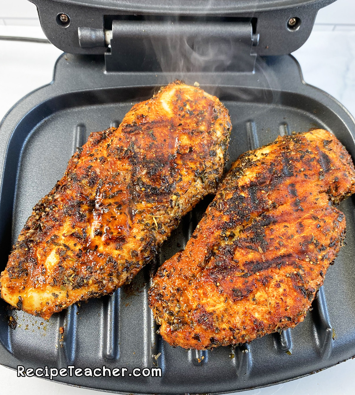Recipe for George Foreman Grill boneless, skinless chicken breasts