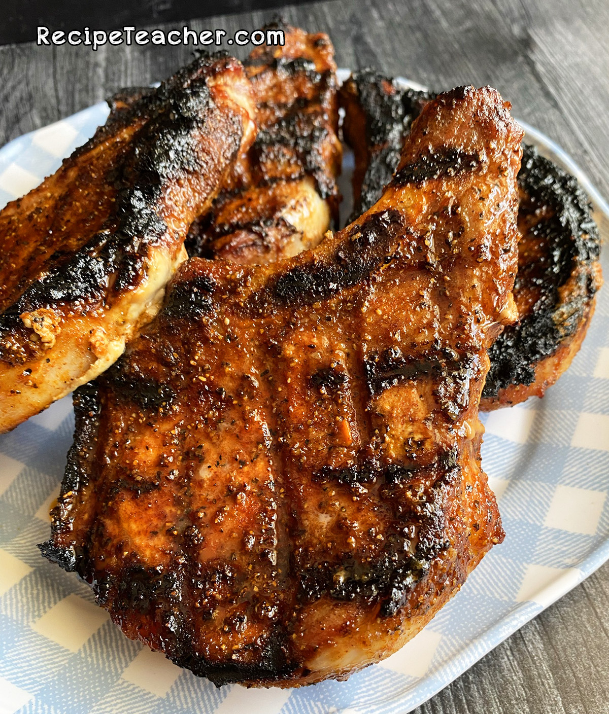 Recipe for grilled pork chops